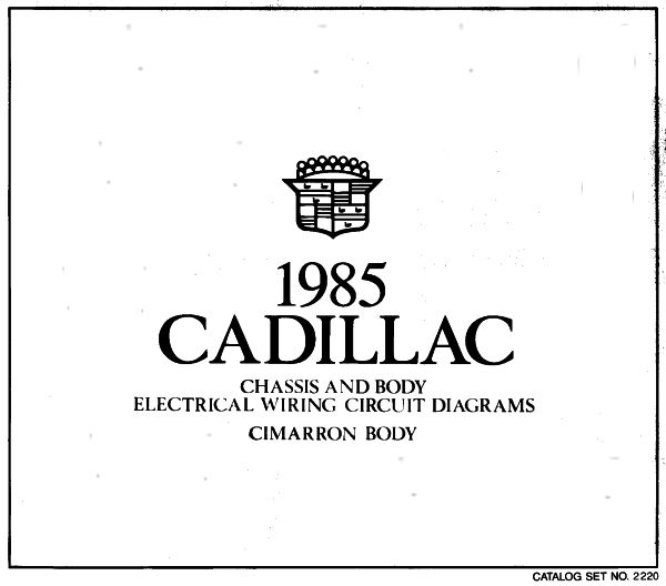1985CadillacCimarronBodyWiring taylor automotive tech line cadillac shop manuals  at readyjetset.co