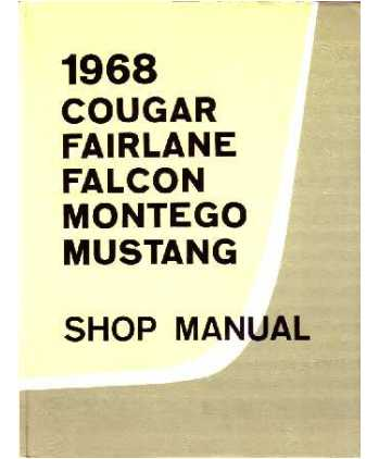 taylor automotive tech line factory ford and mercury car shop rh 4door com 70 Mustang 68 mustang shop manual pdf