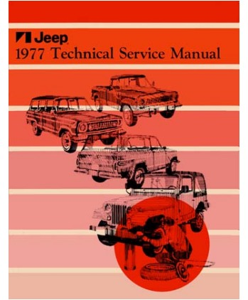 1980 jeep technical service manual, cj-5, cj-7, cherokee | j-801001.